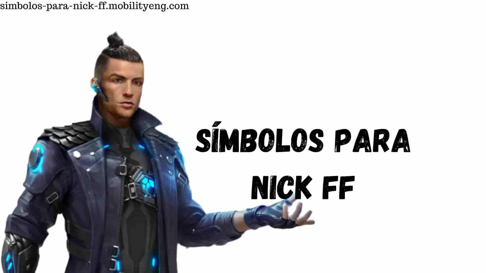 símbolos para nick ff